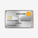 Bank card, credit card design template Royalty Free Stock Image