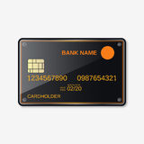 Bank card, credit card design template royalty free illustration