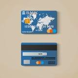 Bank card, credit card design template. Royalty Free Stock Image