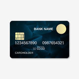 Bank card, credit card, discount card. Design template Royalty Free Stock Photo
