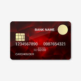 Bank card, credit card, discount card. Design template Royalty Free Stock Photos