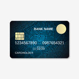 Bank card, credit card, discount card design template Royalty Free Stock Photography