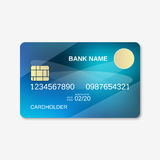 Bank card, credit card, discount card design template Royalty Free Stock Photo