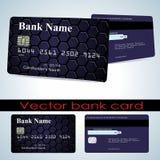 Bank card customer. Vector. Stock Image