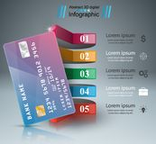 Bank card icon. Business infographic. Vector eps 10 stock illustration