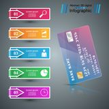 Bank card icon. Business infographic. Vector eps 10 vector illustration