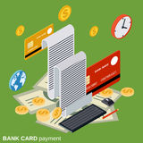 Bank card payment, money transfer, financial transaction vector concept Stock Photography