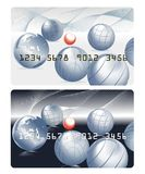 Bank card with petanque Stock Images