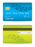 Bank card with tire design Royalty Free Stock Photo