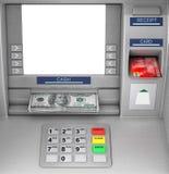 Bank Cash ATM Machine. 3d Rendering. Bank Cash ATM Machine extreme closeup. 3d Rendering Stock Image