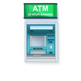 Bank Cash Machine. ATM - Automated teller machine with blank screen and carefully drawn details on white backdrop Stock Images
