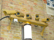 Bank CCTV inwigilaci kamery Fotografia Stock