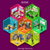 Bank 01 Cells Isometric Royalty Free Stock Images