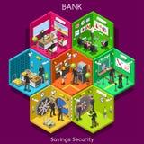 Bank 01 Cells Isometric vector illustration