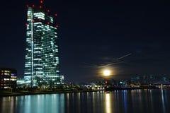 bank centrala - europejski Frankfurt Zdjęcie Royalty Free