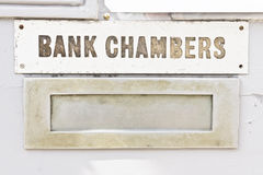 Bank chambers Royalty Free Stock Images