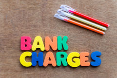 Bank charges Stock Images