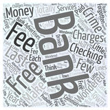 Bank Charges that are a Crime word cloud concept  background Royalty Free Stock Photos