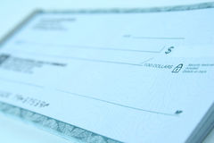 Bank check. Narrow focus, great for backgrounds Royalty Free Stock Images