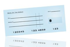 Bank Check Royalty Free Stock Photo
