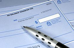 Bank Check Royalty Free Stock Photography