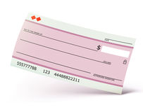 Bank check Stock Photography