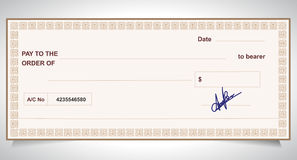 BANK CHECK, bank cheque Royalty Free Stock Images