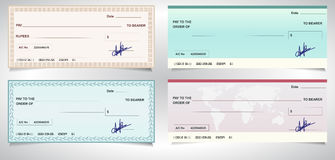BANK CHECK, bank cheque - Vector eps10 Stock Photo