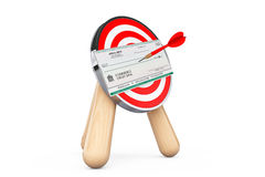 Bank Check in Center of Archery Target Stock Photography