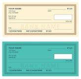 Bank Check with Modern Design. Vector illustration. Royalty Free Stock Photos
