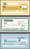 Bank Check. Vector illustration in flat style royalty free illustration