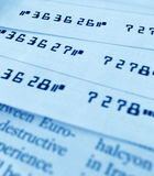 Bank checks Stock Photography