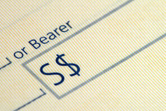 Bank Cheque Royalty Free Stock Photography