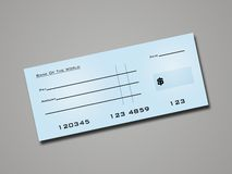 Bank Cheque Royalty Free Stock Image