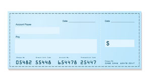 Bank cheque old style Stock Image