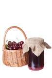 Bank with cherry jam Stock Image