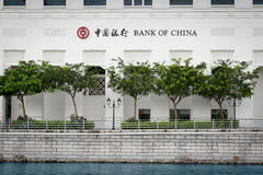 Bank of China, Singapore Stock Photography