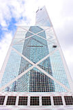 Bank of China tower in Hong Kong Royalty Free Stock Images
