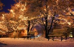 Bank, Christmas, Light Stock Photography