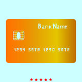 Bank cit card it is icon . Bank cit card  it is icon . Simple style Stock Photo