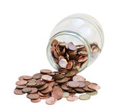 Bank with coins. Stock Images