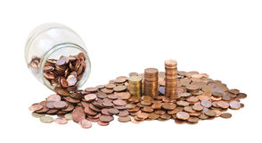 Bank with coins. Stock Image