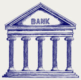 Bank. Colonnade Royalty Free Stock Images