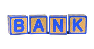 Bank - Colored Childrens Alphabet Blocks. Stock Photography