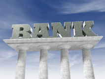 Bank columns Stock Photography