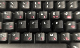 Bank on the computer keyboard Stock Images