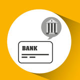 Bank concept safe cards credit and debit money icon Stock Photos