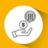 Bank concept safe hand money icon Royalty Free Stock Photos