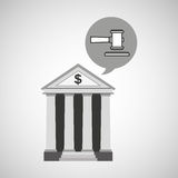 Bank concept safe money justice icon Royalty Free Stock Image