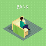 Bank Concept Vector in Isometric Projection . Royalty Free Stock Photography